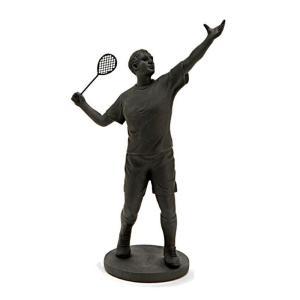 Statue Tennisman Noir Adelphia