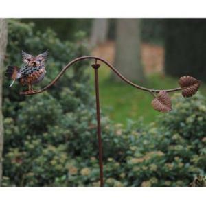 Mobile de jardin – Balancier métal à planter – Simone – Chouette