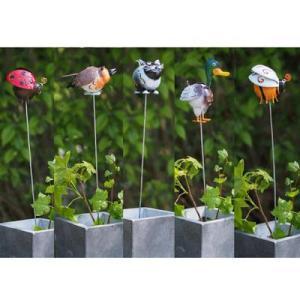Pic de jardin en métal à planter animaux – Alix
