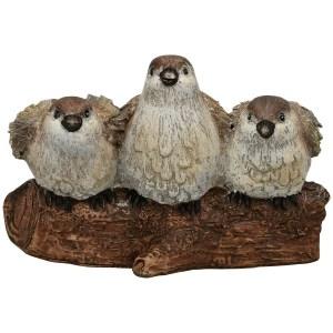 Statue Trio Oiseau sur Branche