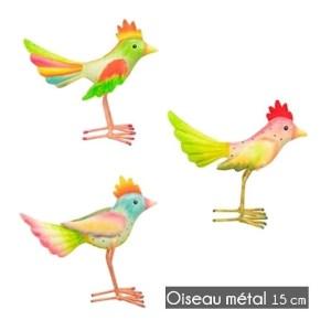 Statue métal Oiseau 15cm