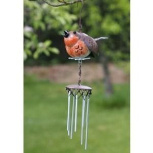 Carillon à vent métal Oiseau