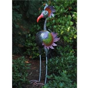 Statue Oiseau Rigolo en métal – Poule Mireille 120 cm