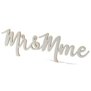 Décoration Bois Mr&Mme 65cm