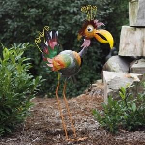 Statue Oiseau Rigolo en métal – Dindon Georgette 61cm