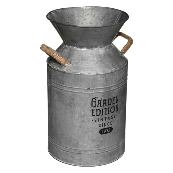 Pot à lait déco métal zinc - Aldina H37