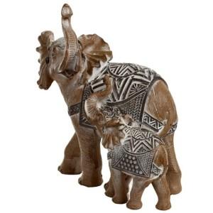 Statue Famille Elephant Blinus