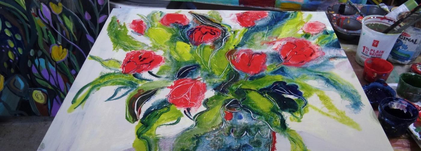 Inside My Painting Studio