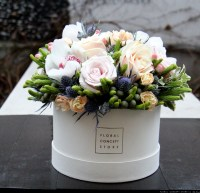 Flower box with herbs - flower delivery Krakow   Floral ...