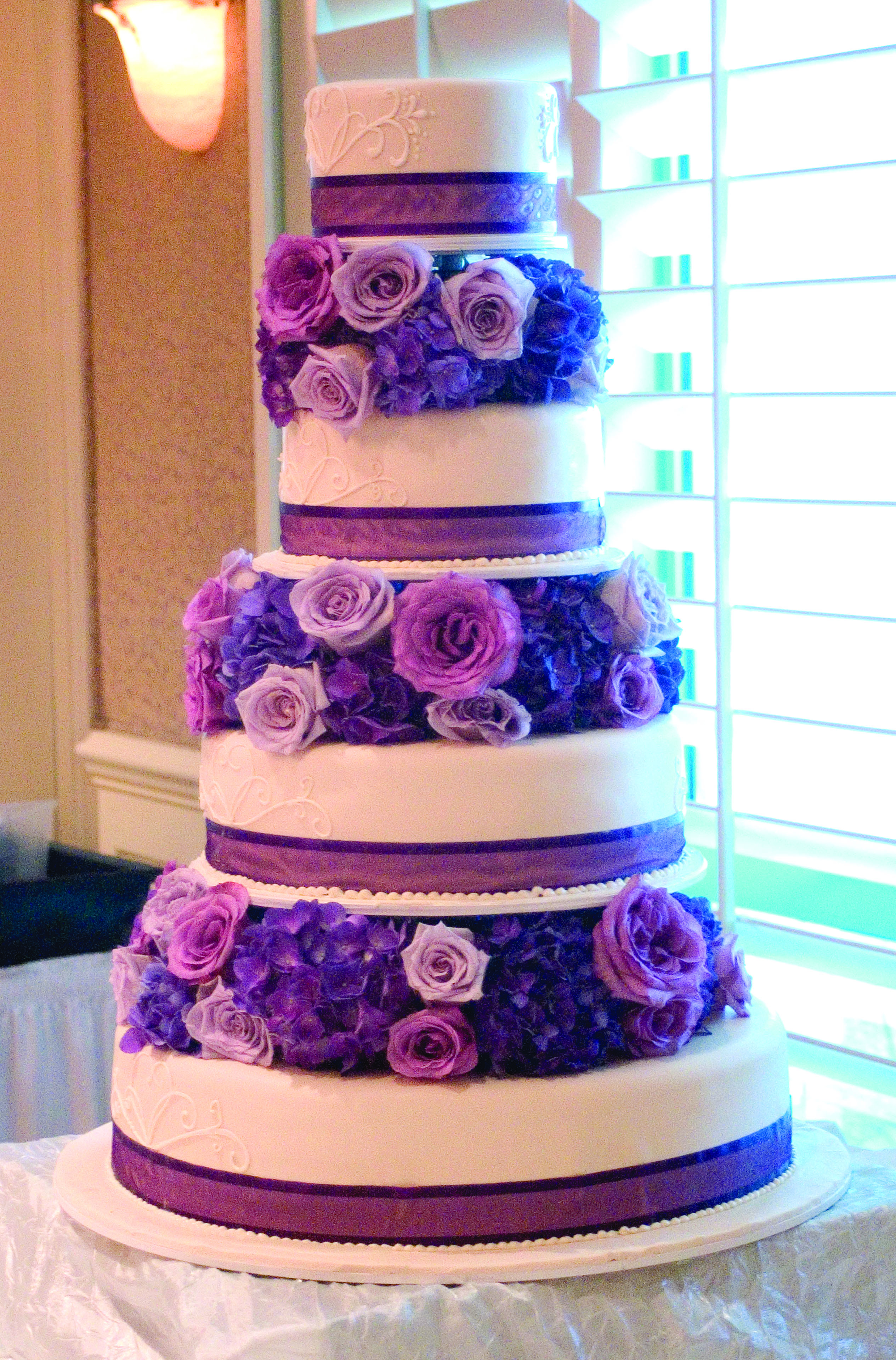 Purple White And Kale Wedding Floral Design By