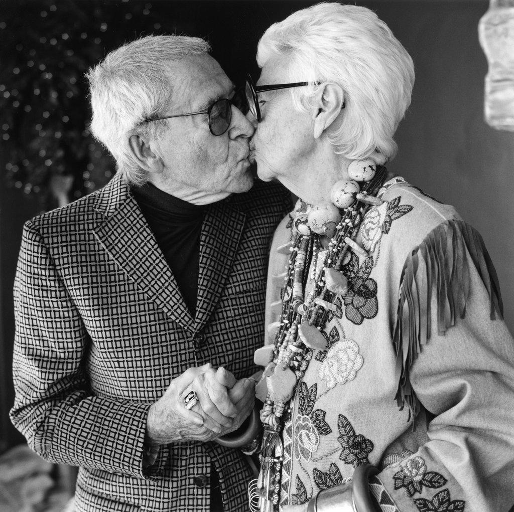Carl and Iris Apfel love