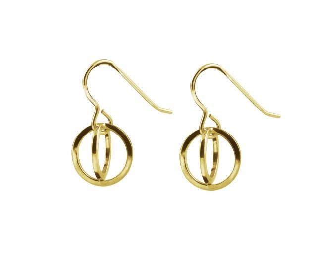 Celestial short drop earrings 9ct gold Maria Dorai-Raj interview with floralesque