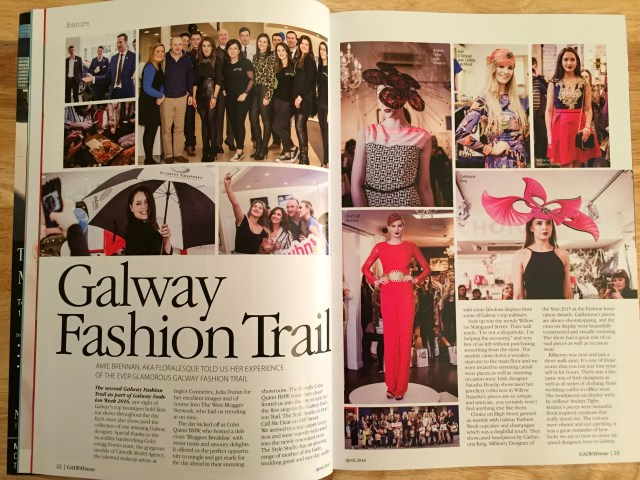 Galway Now Magazine April 2016 Floralesque Galway Fashion Trail