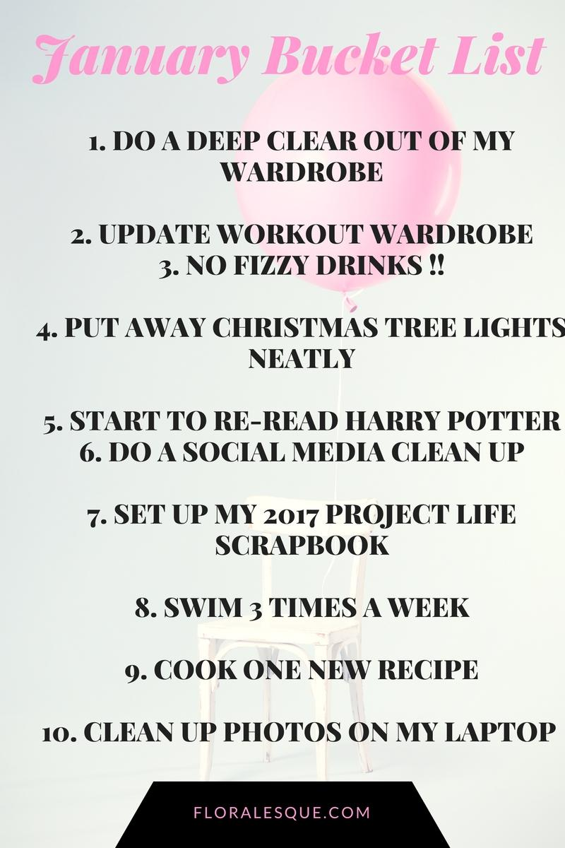 January Bucket List