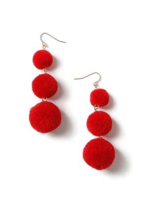 Miss Selfridge Red Prom Earrings