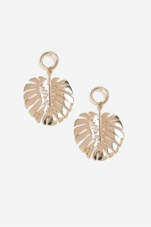 Topshop Flower and Petal Drop Earrings
