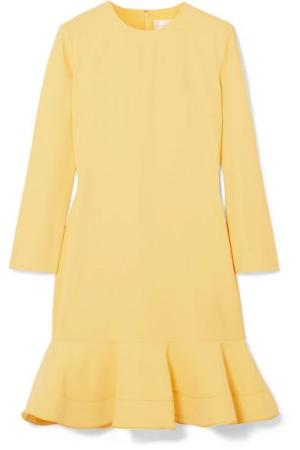 VICTORIA, VICTORIA BECKHAM Flared crepe mini dress