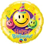 18 Inch Birthday Smiley Faces