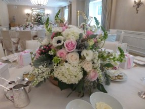 Elegant Centerpiece for Engagement Party at the Penninsula Hotel