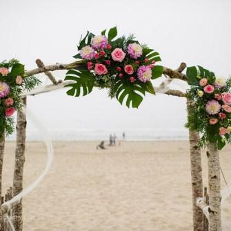 beach ceremony arch