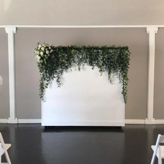Urban Studio - moveable wall ceremony set-up