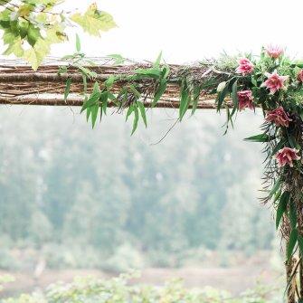 birch arbor - close-up