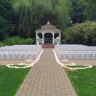 ceremony set-up at Abigail's Garden at Abernethy Center