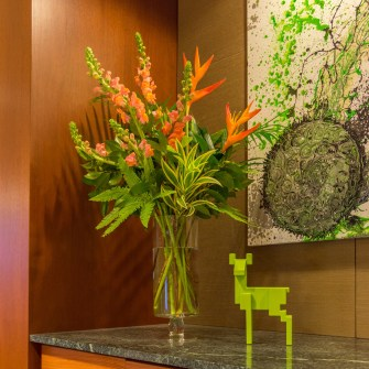 Clean Modern Style Flowers for Office