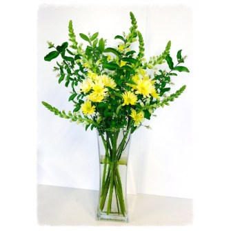 Simple yellow and green tall flowers