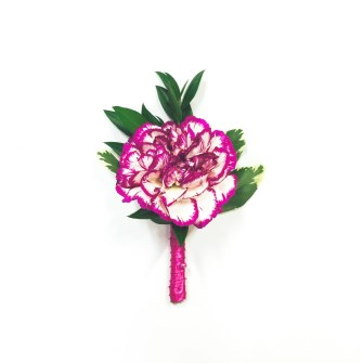 variegated carnation boutonniere 2
