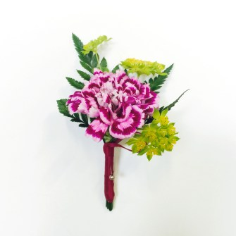 variegated carnation boutonniere 1