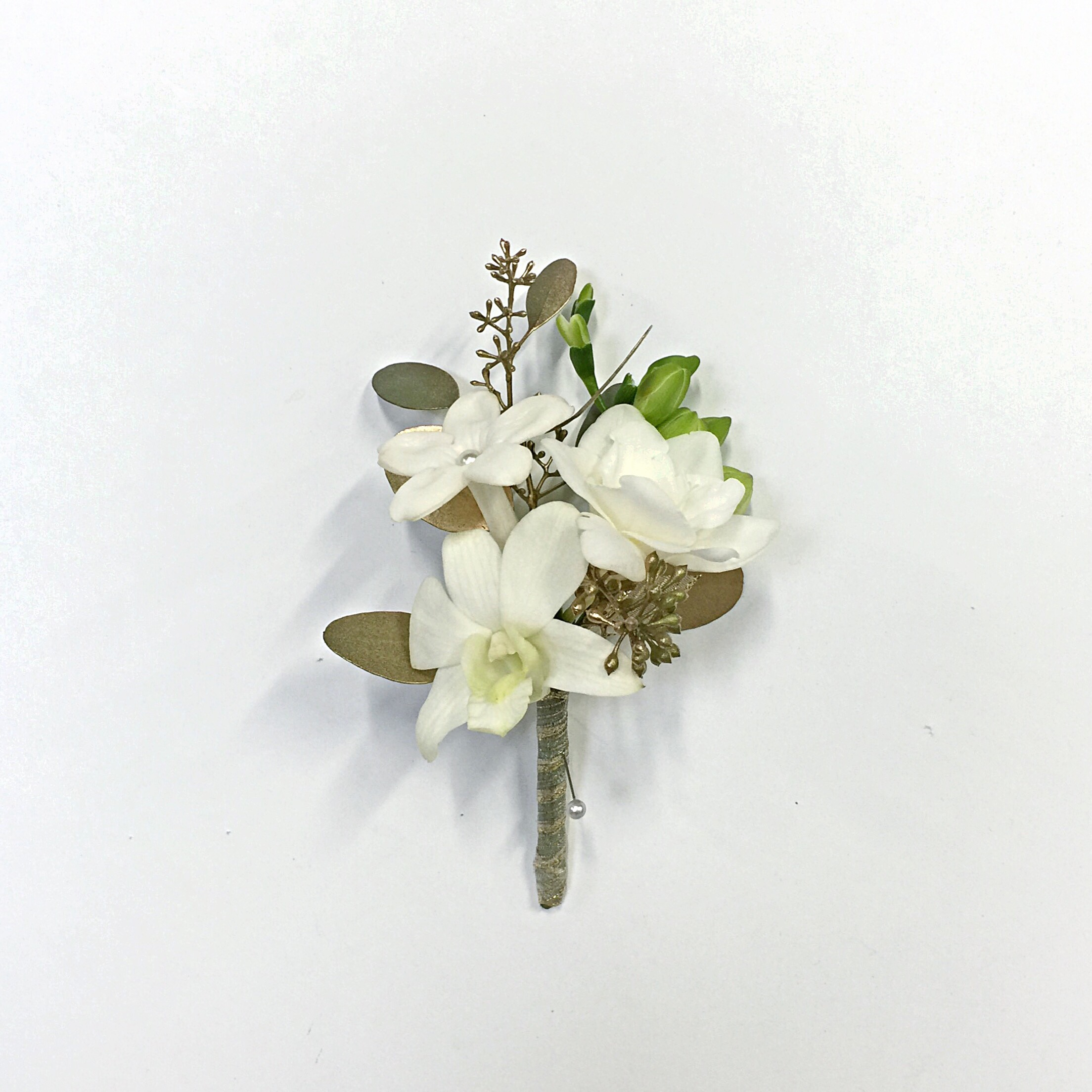 Flower arrangements gallery floral sunshine 3 white flowers boutonniere mightylinksfo Image collections