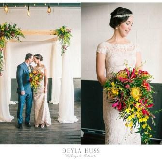 Tropical Portland wedding