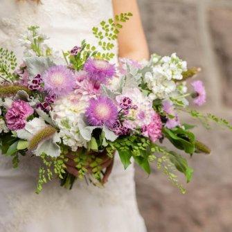 Lavender textures bouquet