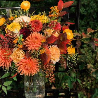 Large fall bridal bouquet