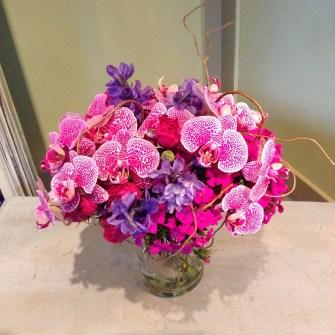 magenta orchid bouquet