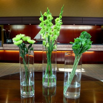 Grouping of green flowers