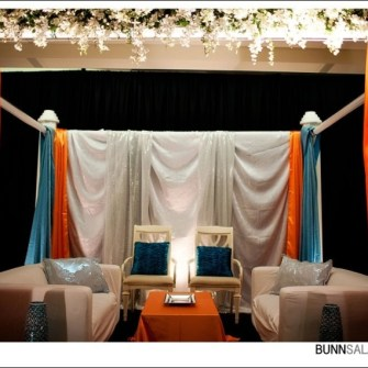 orange & teal mandap