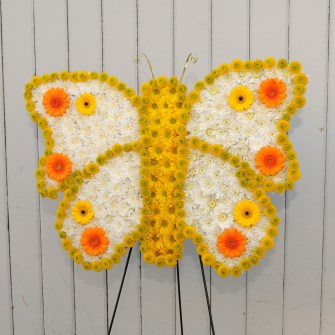 Sunny butterfly standing spray