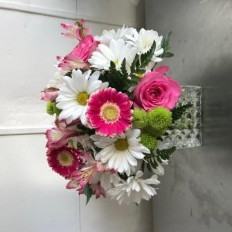 Cheery white & pink - medium