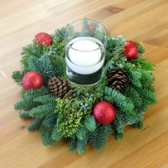 Holiday Candle RIng for Centerpieces
