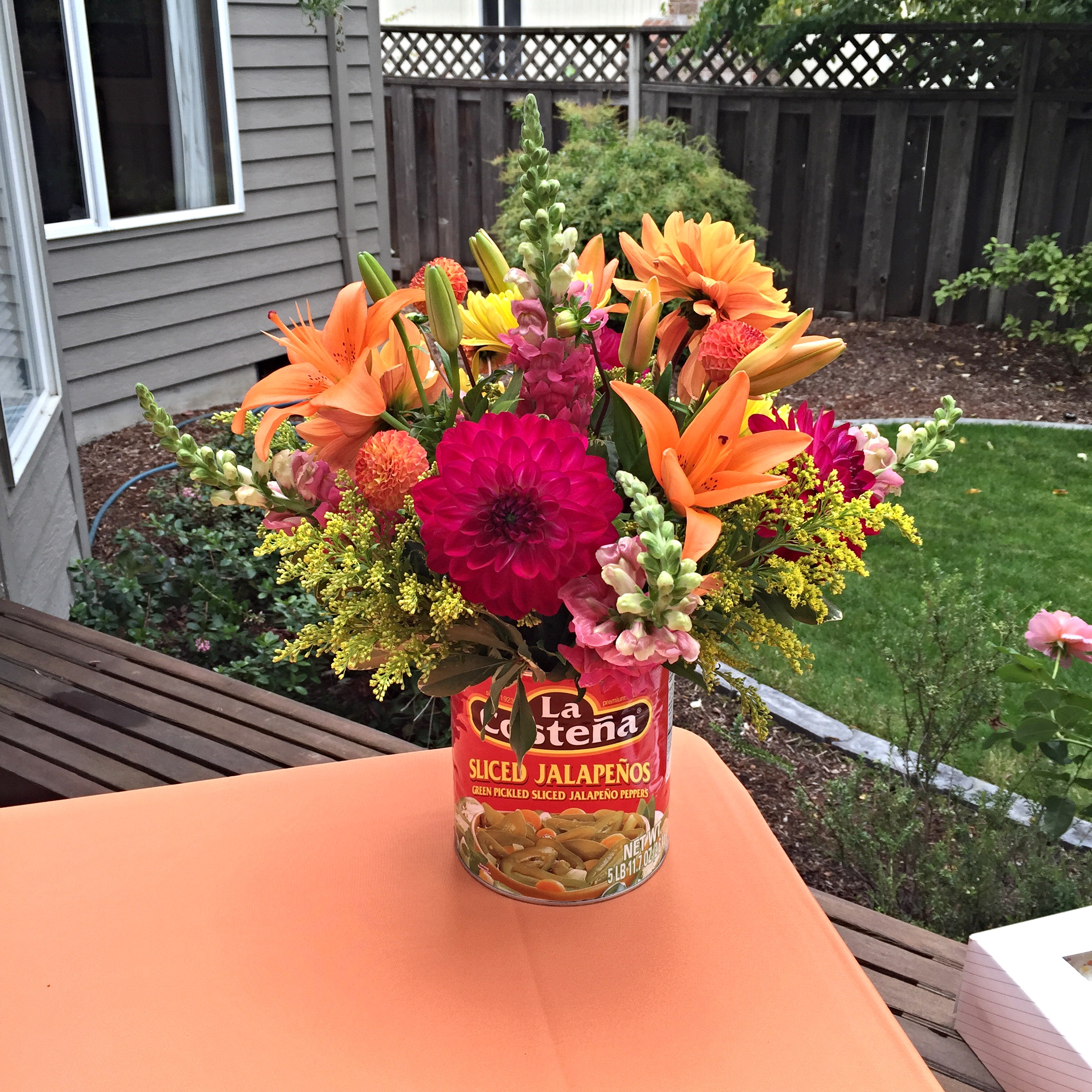 Special event flower arrangements fiesta flowers in mexican food cans reviewsmspy