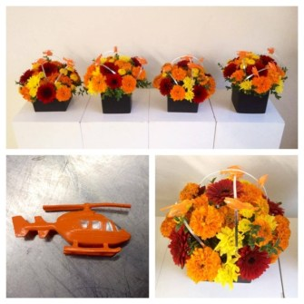 Centerpieces with helicopters