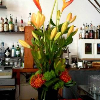 Medium slender tropical arrangement