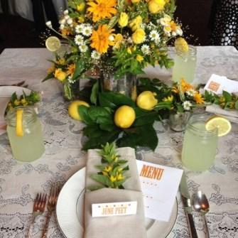 lemonade stand themed flowers