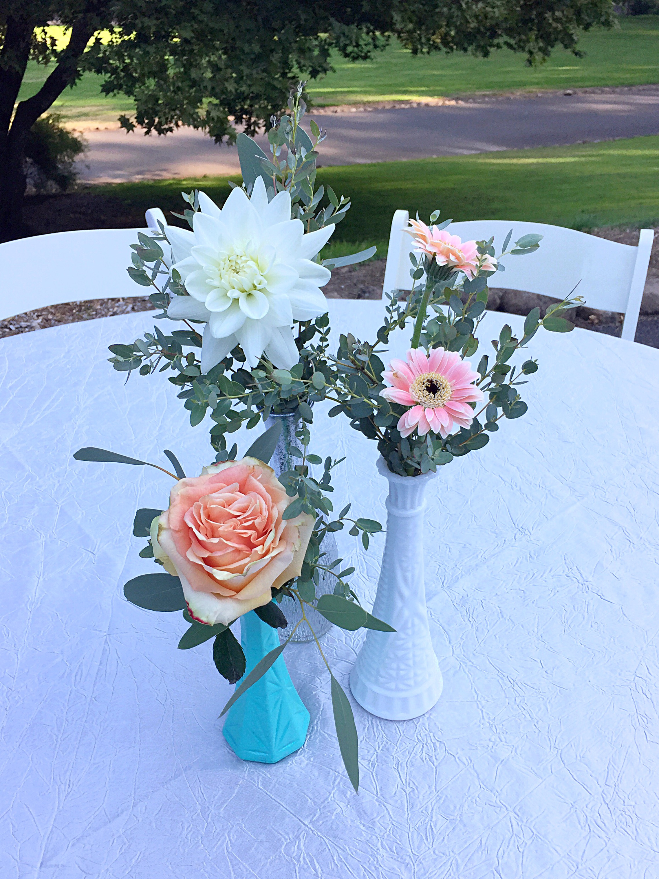 Flower arrangements gallery floral sunshine grouping of 3 blooms mightylinksfo