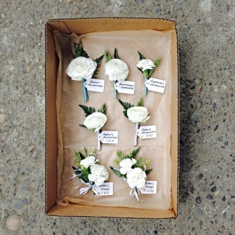 boutonnieres & corsages - all labeled