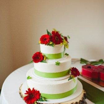 vineyard wedding cake