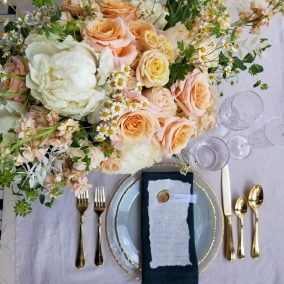 flat lay wedding photo