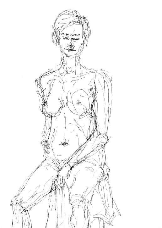 Life drawing - seated woman